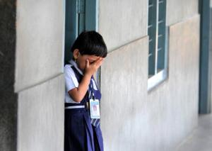 REPORT CARD: While most schools have adequate numbers of classrooms, separate toilet facilities for girls and boys, the availability of playground, school ramp, kitchen shed and boundary wall remains a major challenge in many States. Photo: K.R. Deepak