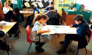 Since 1995, children have been required to sit literacy and numeracy tests in their last year of primary school. Photograph: Martin Godwin for the Guardian