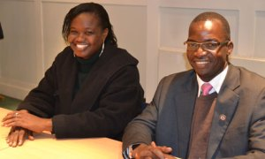 Pia Philip Michael and Bridget Nagomoro visited the UK to discuss the challenges to girls' education in South Sudan. Photograph: Leapfrog Public Relations