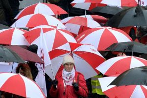 The protest against the Law and Justice (PiS) party's education reform proposal (pictured) (AFP Photo/Janek Skarzynski)